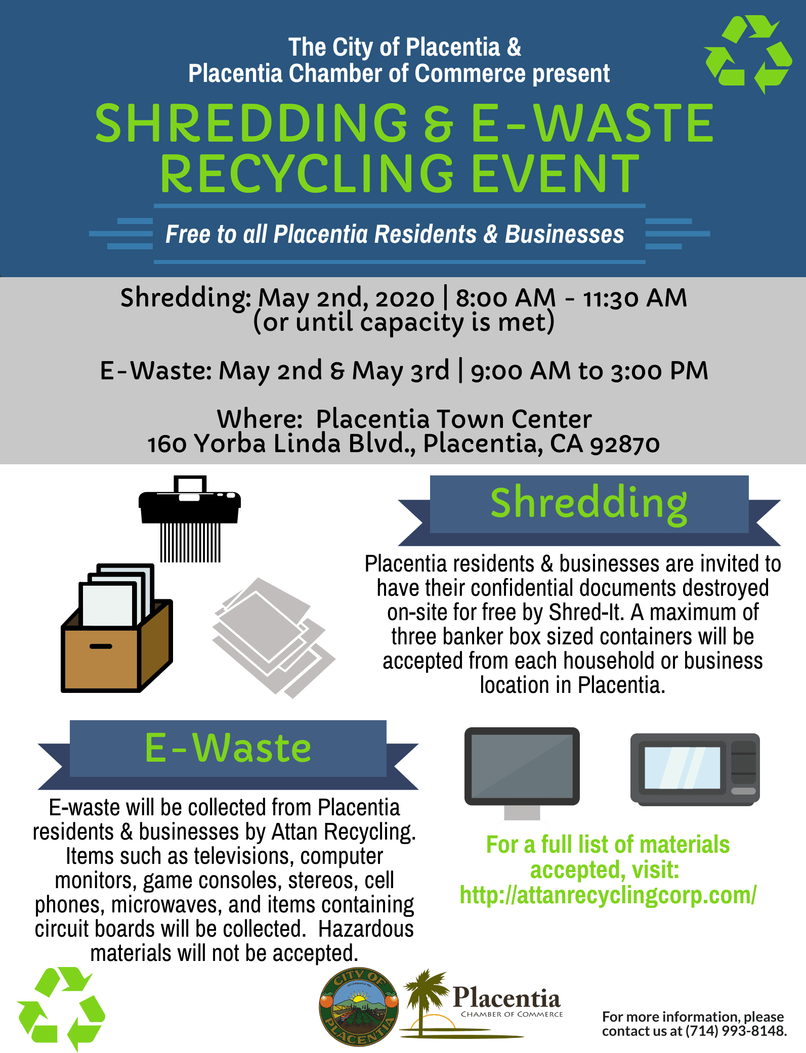 Placentia Recycling Event - May 2020