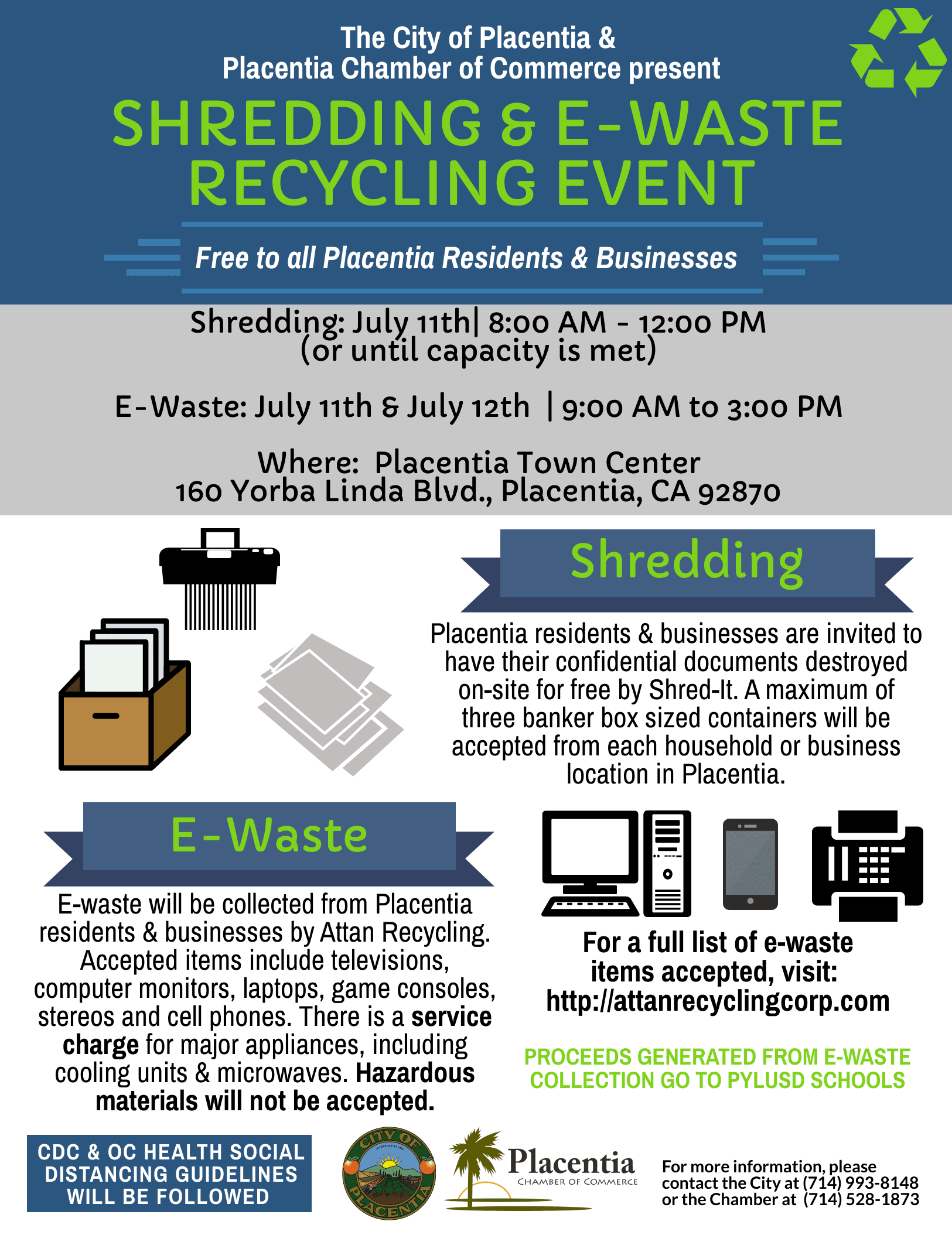 Placentia Recycling Event - July 2020