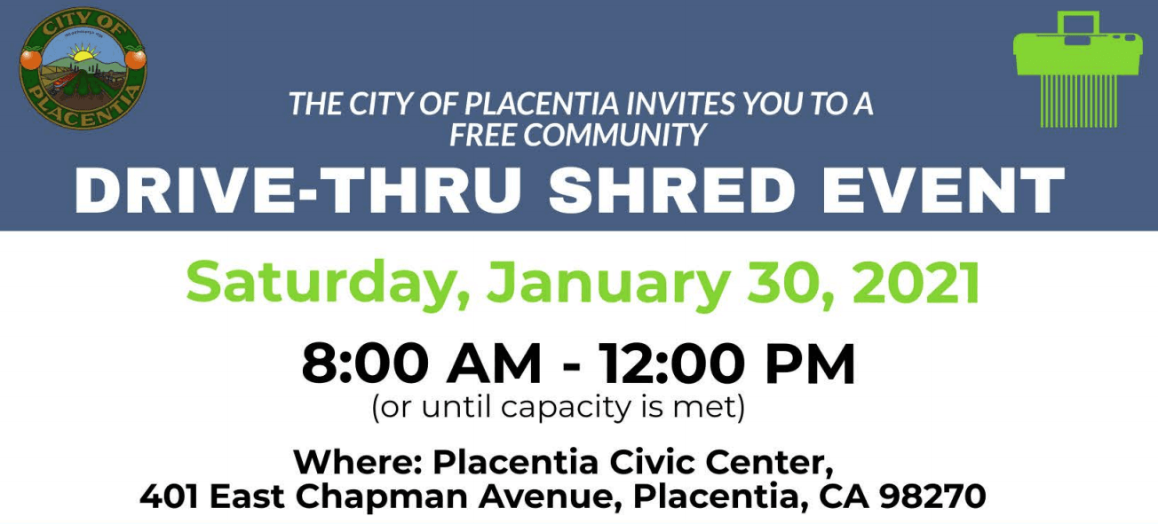 Announcement of Shredding Event on January 30