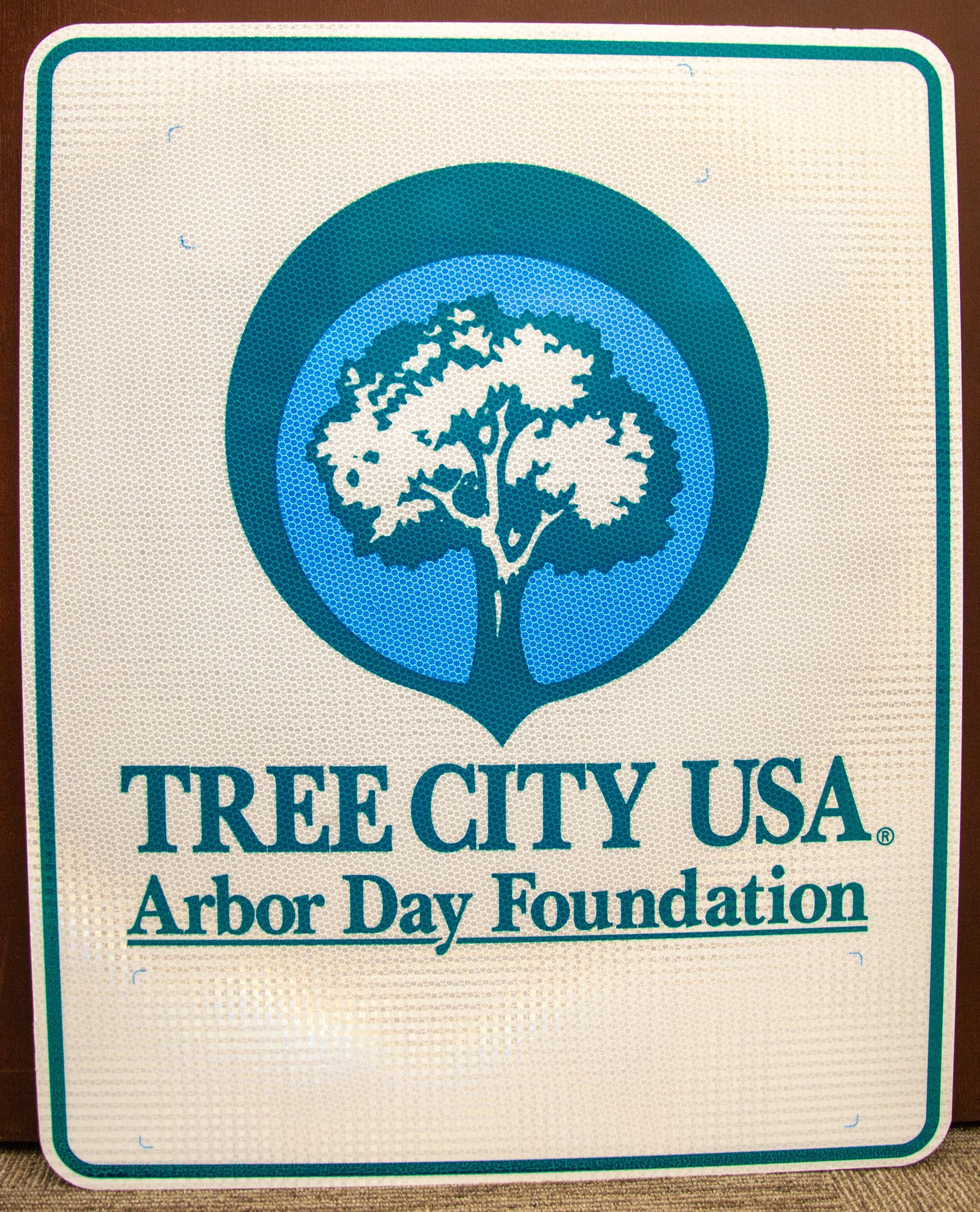 Tree City USA sign